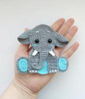 Baby Blanket PATTERN Elephant Applique Crochet Pattern PDF Jungle Animal Pattern Safari Anima...