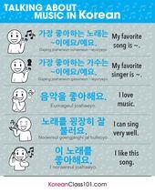 Music Vocabulary in Korean🇰🇷 Want more Korea…