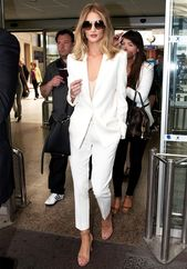 Rosie Huntington-Whiteley Just Wore the Most Chic Airport Outfit Ever via @WhoWh…
