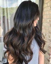 50 dunkelbraune Haare mit Highlights-Ideen für 2019 – Hair Adviser #darkbrownhair   – dark brown hair ideas
