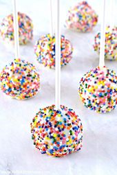 Birthday Cake Pops with Sprinkles