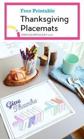 Free Printable Thanksgiving Garland and Placemat – OneColorfulDay