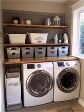 Keller mit Wäsche, 8 × 10 Wäsche-Ideen, kleine Waschküche abgeschlossen