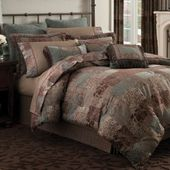 This lush bedding has a collage of regal patterns in rich, deep tones, with pipi...