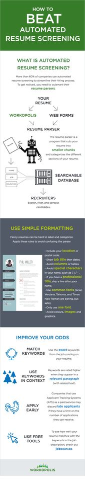 How to beat automated resume screening Screens, Job resume and - how to perfect your resume