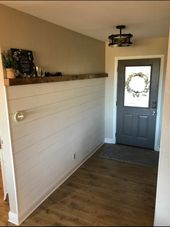 Faux Shiplap Wall Treatment