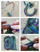 Pieces of Eight Fingerless Gloves Free Knitting and Crochet Pattern