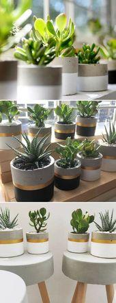 DIY-Blumentopf aus Beton