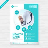 Corporate healthcare and medical cover a4 flyer design template | Premium Vector...
