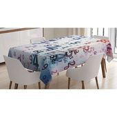 East Urban Home Digital Code Numbers Computer Database Science Information Technology Themed Art Tablecloth Size: 90″ x 60″