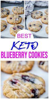 MEILLEURS biscuits Keto! Idées de biscuits de biscuits Streusel de myrtille de Keto de bas Carb – Recette rapide et facile de régime cétogène – Complètement Keto amical