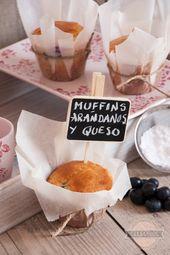 Churretes de Cocholate: muffins de arándano con crema de queso   – muffins & cupcakes