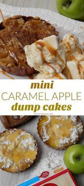 Mini Caramel Apple Dump Cakes Rezept – Haben Sie jemals einen Dump Cake probiert?   – Make Good Things