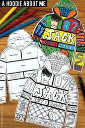 All about me back to school Fun Art Activity for Middle School