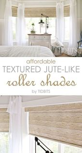 Affordable Textured Jute-like Roller Shades – Tidbits