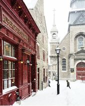 Old Montreal, went there in the winter time. Enjoy…