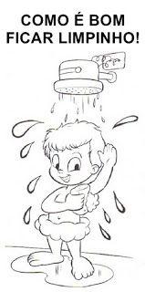 Desenhos Sobre Higiene Para Pintar Colorir Imprimir Escova De