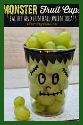 Monster Fruit Cups ~ Fast and Easy Healthy Hallowe…