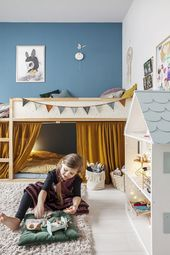 Ikea Kura Bett mit minimalen DIY schön gemacht #g…