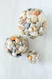 Muscheln aus Muscheln – DIY Dekoration   – basteln