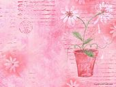 Floral Pattern Design et Floral Graphics – Pot de fleurs artistique en rose …   – BACKGROUND