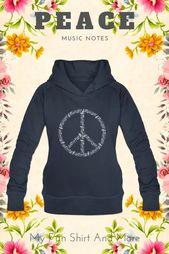 Peace – Frieden auf der Erde – Noten – Musik – Frauen Premium Hoodie   – My Fun Shirt   Lustige Shirts und mehr