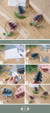 Weihnachtsbaum im Ring   – Deko für ein schönes Zuhause