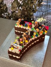 Pastel número – 7mo cumpleaños – # 7mo # cumpleaños # pastel # número   – Cake Decorating Cupcake Ideen