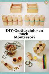 Bricolage: boîtes à son Montessori (instructions et idées de jeux)   – kinder