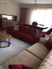 Wohnzimmer, Rot, Couchtisch, Weißer Teppich, Teppich, Creme, Konsole, Kronleuchter, Esszimmer …   – Koltuk