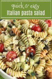 Salade de pâtes italienne Fast & Easy – Nourriture / boisson – #amp #drink #e …   – salat