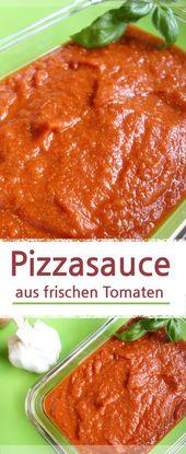 Pizzasauce selber machen mit frischen Bio-Tomaten
