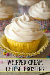 Whipped Cream Cheese Frosting – Die flauschige Süße dieser köstlichen …