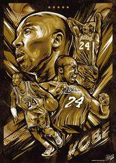 NBA-Vektor-Plakate auf Behance   – NBA Legend: Kobe Bean Bryant