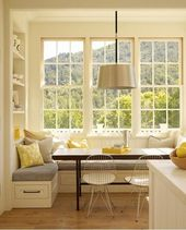 Corner bench with drawers – perfect idea for a small kitchen