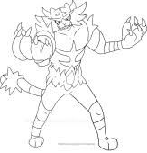 Incineroar Pokemon Sun And Moon Coloring Pages Buscar Con Google