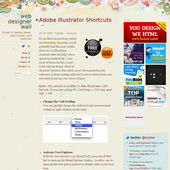 Illustrator Shortcuts  Adobe Illustrator Shortcuts | WebDesignerWall.com #illustrator
