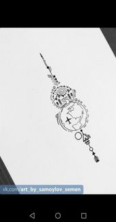 36+ Trendy Travel Drawing Compass Tattoo Designs