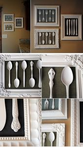 Wall Art Made from Recycled Cutlery | DIY Home Dec…