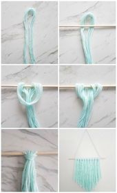 The way to Make an Simple DIY Wall Hanging with Yarn