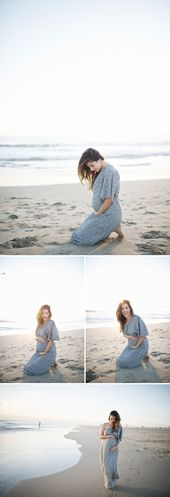 Baby Bump LOVE. I would die to have pictures like this at the beach. Hate the dress though...