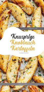Knusprige Knoblauchkartoffeln   – Koch-Rezepte