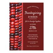 Red Indian Corn Thanksgiving Dinner Invitation | Zazzle.com