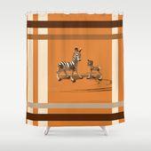 Süße Mama und Baby Zebras! Vernachlässigen Sie nicht das Badezimmerdekor – unsere Designer-Dusche …   – #showercurtains