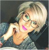 Wirklich niedlich kurze Frisuren, die Sie lieben werden – Beste Frisuren Frauen #FrisurenfrrundeGesichter #hairstylesforroundfaceswithglasses