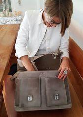 Hamosons – Casual Briefcase / Teacher Bag size M made of …- Hamosons – Läss…