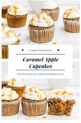 Es ist nicht Herbst, bis Sie eine Charge dieser flauschigen Karamell-Apfel-Cupcakes gemacht haben. …   – Cupcake <3