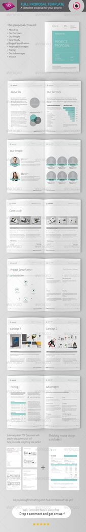 Project Proposal by fahmie on @creativemarket #ProposalTemplate - project proposal template word