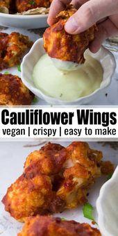 Crunchy cauliflower wings