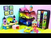 DIY Miniatur LOL Puppenzimmer für LOL Puppen mit 3 Etagenbetten – YouTube   – Case delle bambole